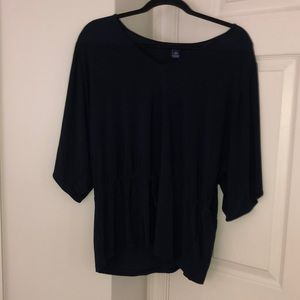 Chaps Navy Blouse
